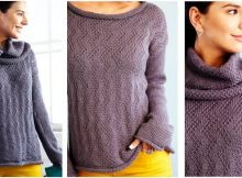 feather chic knitted sweater | the knitting space