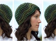 feather 'n fan knitted hat | the knitting space