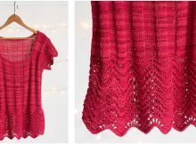 feather 'n fan knitted ribbed tee | the knitting space