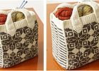 felted snowflake knitted tote | the knitting space