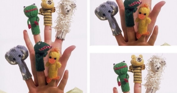 Knitting Patterns For Finger Puppets Free : Knitted Finger Puppets [FREE Pattern]