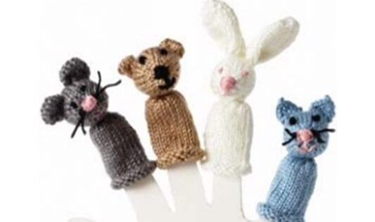 Knitted animal finger puppets free knitting pattern dt1010fo