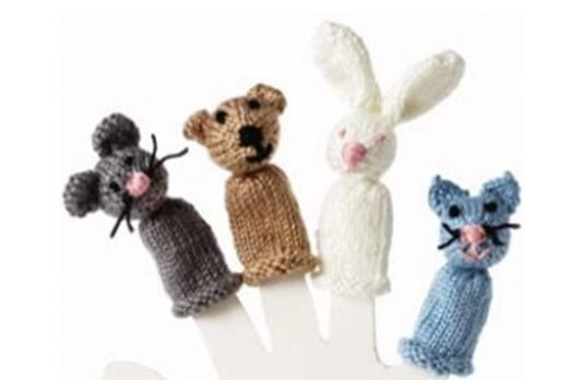 Knitted Animal Finger Puppets Free Knitting Pattern