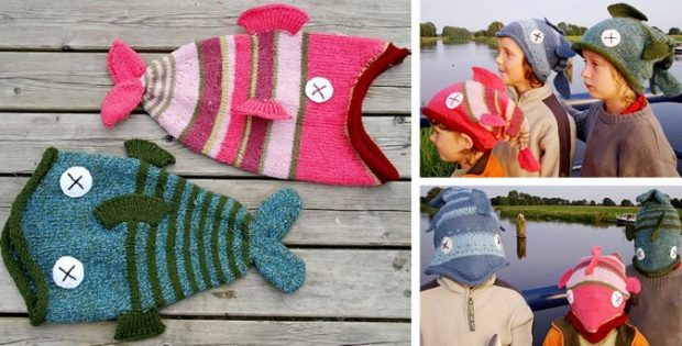 Knitted Fish Hats Dead Or Alive Free Knitting Pattern