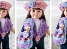 floral knitted doll accessories | the knitting space