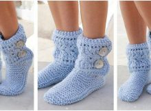 fluffy Fia knitted lace slippers | the knitting space