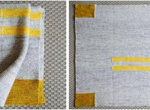 four corners knitted baby blanket | the knitting space
