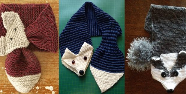 Fun Fox Knitted Scarf For Kids [FREE Knitting Pattern]