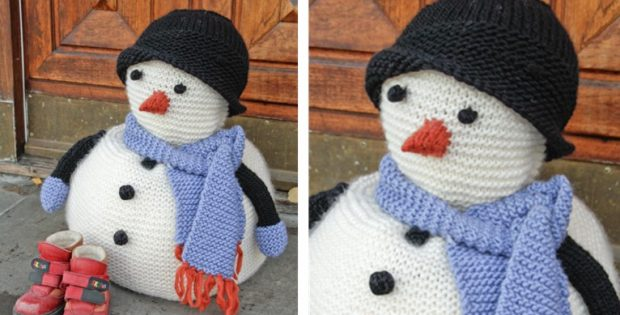 Frank knitted snowman | the knitting space