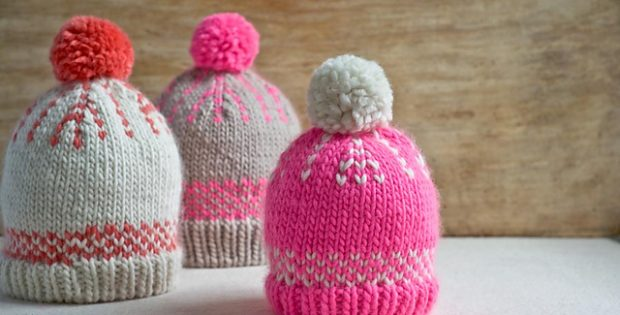 Friendly Knitted Fair Isle Hats Free Knitting Pattern