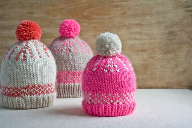Friendly Knitted Fair Isle Hats Free Knitting Pattern