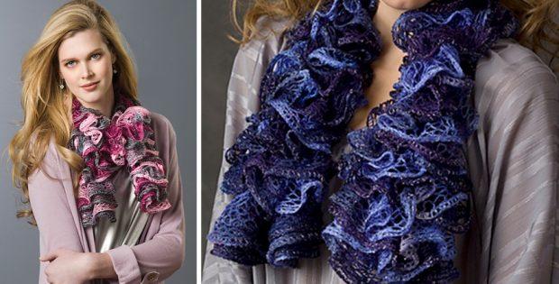 Saucy Swirls Knitted Scarf Free Knitting Pattern