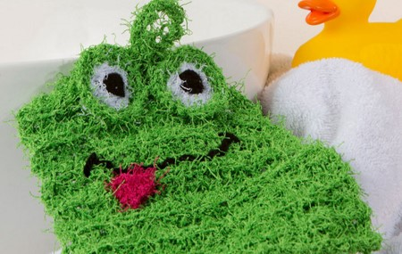 knit froggy scrubby | the knitting space