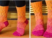 fun Taffy Toes knitted socks | the knitting space