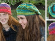 fun eyelet swirl knitted hats | the knitting space