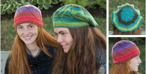 fd9eabe9598 Fun Eyelet Swirl Knitted Hats  FREE Knitting Pattern