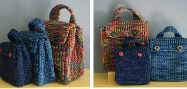 Fun Little Knitted Treat Bags Free Knitting Pattern