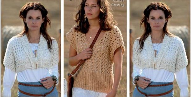 bba9441153d95e Fun  N Fab Knitted Women s Tops  FREE Knitting Pattern