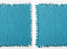 fun picot edge knitted dishcloth | the knitting space