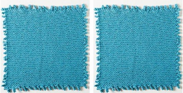 Fun Picot Edge Knitted Dishcloth Free Knitting Pattern