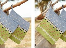 fun summer grazing knitted potholder | the knitting space