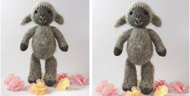 Fuzzy Mitten Knitted Lamb Free Knitting Pattern