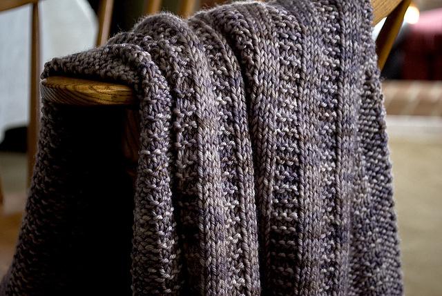 Knitted Garter Rib Baby Blanket Free Knitting Pattern