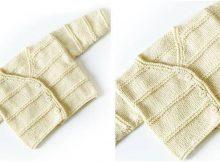 garter ridge knitted baby cardigan | the knitting space