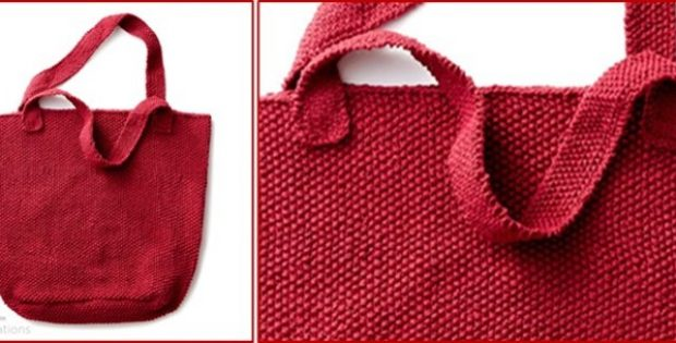 sturdy knitted market tote | the knitting space