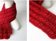 gingerbread icing knitted scarf | the knitting space