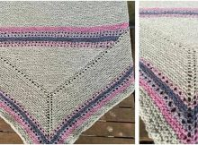 glorious glimmer knitted shawl | the knitting space