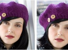gorgeous buttoned knit beret | the knitting space