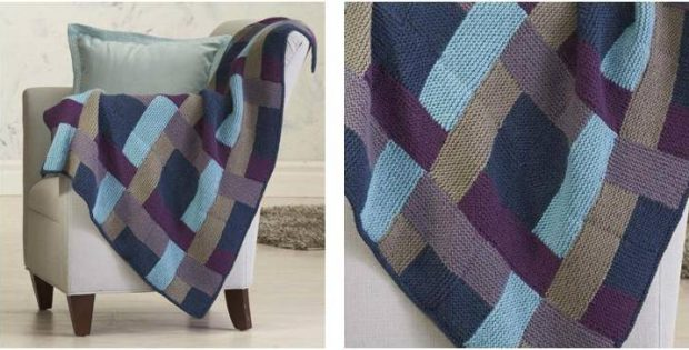 gorgeous Eldie knitted throw | the knitting space