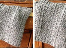 gorgeous gansey knitted scarf | the knitting space