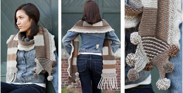 gorgeous knitted patchwork scarf | the knitting space