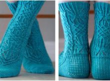 graceful Nomia knitted socks | the knitting space