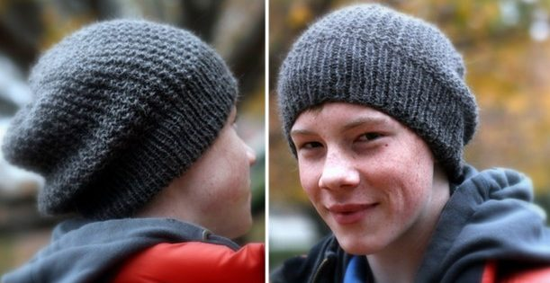 Graham Knitted Slouchy Unisex Hat Free Knitting Pattern