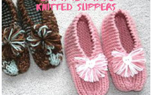 Knit Simple Grandma Slippers Free Knitting Pattern