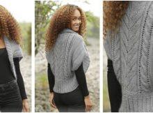 grey whisper knitted bolero | the knitting space