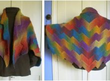 groovy lightning knitted shawl | the knitting space