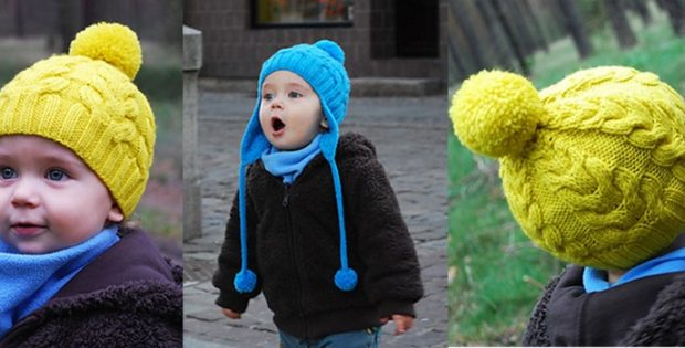 Heart Knitted Cable Hat With Pompom Free Knitting Pattern