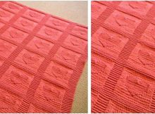 heart knitted baby blanket | the knitting space