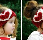 heart knitted head warmer | the knitting space