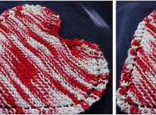heart-shaped knitted dishcloth   the knitting space