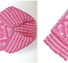 hearts knitted slip thru scarf | the knitting space