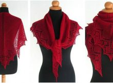 hearty lace knitted shawl | the knitting space