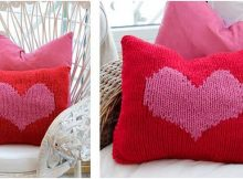 hearty love knitted cushion cover | the knitting space