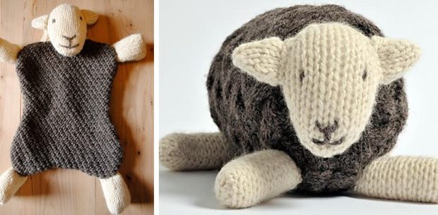 Herdy Knitted Hot Water Bottle Cover And Soft Toy Free Pattern