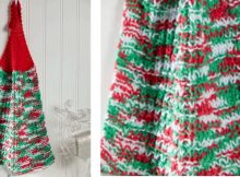 holiday knitted dish towel | the knitting space