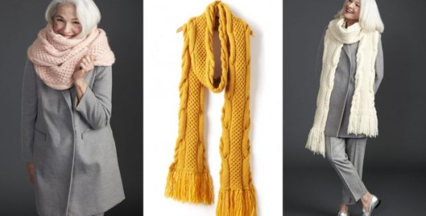 Honey Comb Twist Knitted Super Scarf Free Knitting Pattern